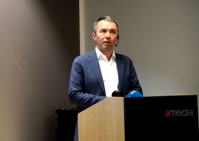 André Støylen, direktør i Sparebankstiftelsen DNB - som står bak «ideen» om en avis-stiftelse for Amedia.