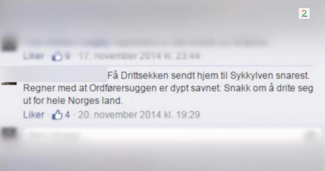 Dette er blant kommentarene den engasjerte TV-seeren ble omtalt med i serien. (Faksimile: TV2.no)