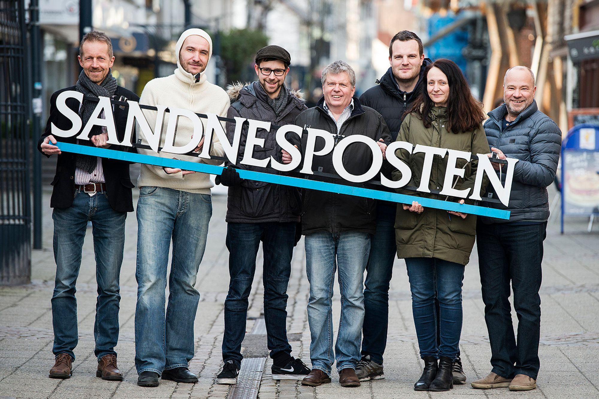Slik markerte Sandnesposten tittelen som «Årets opplagsvinner».