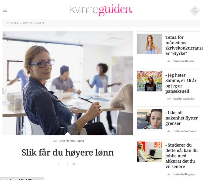 Kvinneguiden.no akkurat nå (onsdag 9. mars).