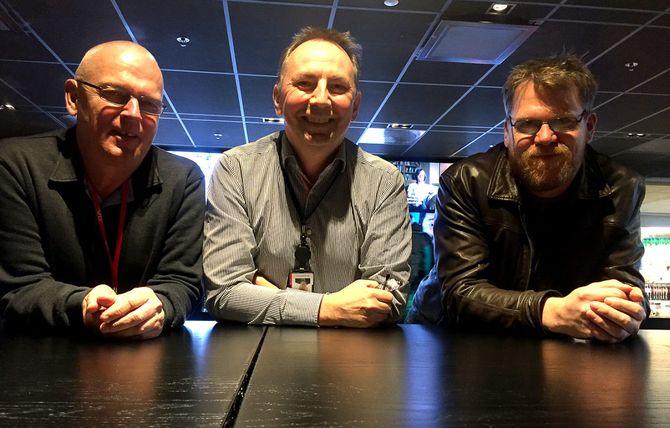 RETT FØR SKUP 2016: Styremedlem John Bones, styreleder Jan Gunnar Furuly og daværende daglig leder Jens Egil Heftøy i SKUP. (Arkivfoto: Gard L. Michalsen)