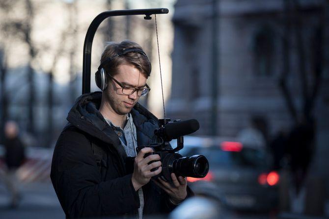 Benjamin under filminnspillingen. (Foto: Annemor Larsen, VG)