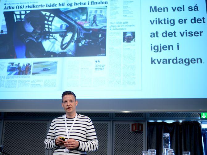 Anders Totland fra Sunnhordland med et godt og enkelt budskap.