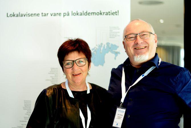 MOR OG FAR LLA? Asta Brimi, styremedlem, nestleder eller leder i til sammen nærmere 20 år - og generalsekretær gjennom mange år, Rune Hetland.