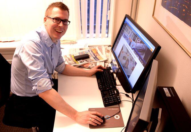 EIRIK HOFF LYSHOLM, sjefredaktør og administrerende direktør i Mediehuset Dagsavisen. (Arkivfoto: Gard L. Michalsen)