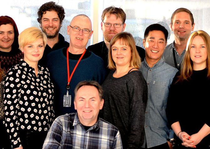 Her ser vi deler av SKUP-styret, samlet til et møte vinteren 2015. I midten bakerst; sekretariatsleder Jens Egil Heftøy, som 19. april valgte å si opp sin stilling. Sittende foran: Styreleder Jan Gunnar Furuly. (Arkivfoto: Gard L. Michalsen)
