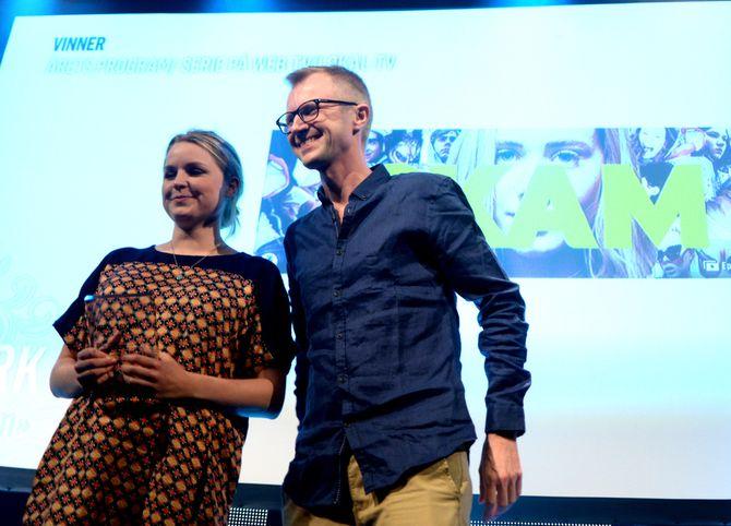 FIKK PRISER: Onsdag fikk SKAM to priser under MBLs medieprisfest - Årets nykommer og Årets web-TV-serie. Fredag blir det trolig enda flere priser når TV-bransjen møtes til Gullruten-fest i Bergen.