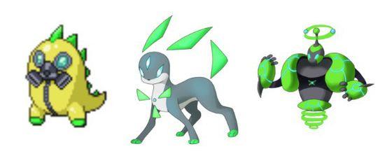 Radioaktive Pokémon. Krabaten til venstre (Hazma) er imidlertid godt rustet.