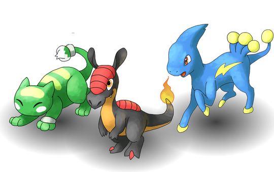 Tandors egne begynner-Pokémon.