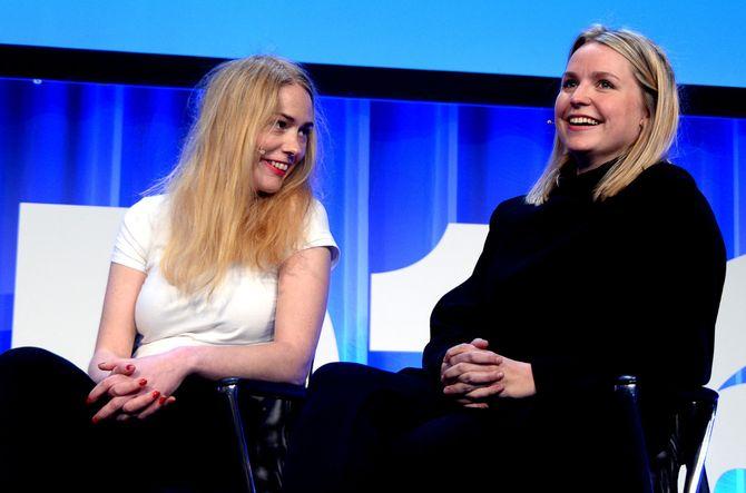 HAR LAGET SKAM: Manusforfatter og regissør Julie Andem (t.v.) og produsent Mari Magnus.