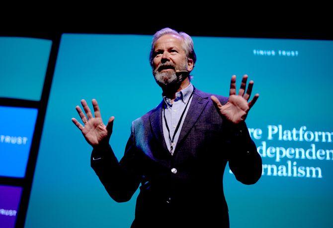 OLE JACOB SUNDE, styreleder i både Tinius-stiftelsen og Schibsted ASA. (Foto: Gard L. Michalsen)