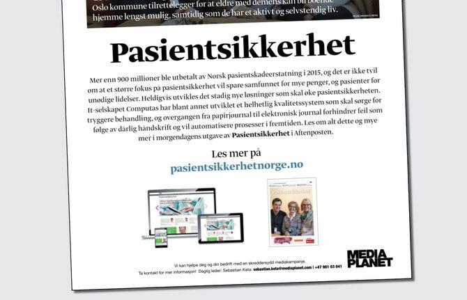 Slik ble annonsebilaget presentert dagen i forveien, med en helsides annonse i Aftenposten. (Faksimile)