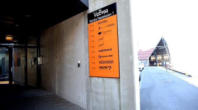 Vizrts lokaler på Nøstet i Bergen - enn så lenge. Neste år flytter de inn i MediaCity.