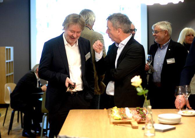 I februar var det husfest for Amedia med gjester fra hele bransjen - og ikke minst husets gamle beboer, VG.