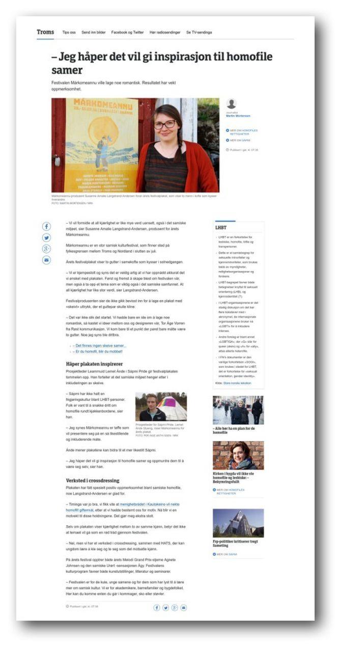 Slik var NRKs sak - også med egne kilder og journalistisk arbeid.