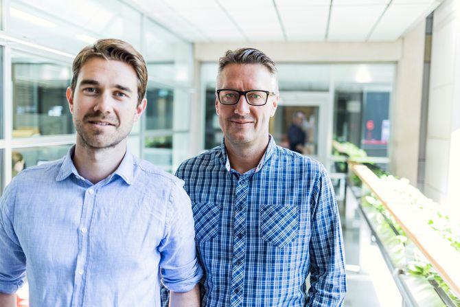 VG PARTNERSTUDIO - her ved kommersiell sjef Jonas Brynildsrud (t.v.) og innholdssjef Svein Arne Haavik. (Arkivfoto: VG)