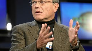 WPP-sjefen Sir Martin Sorrell - her på World Economic Forum for noen år siden.