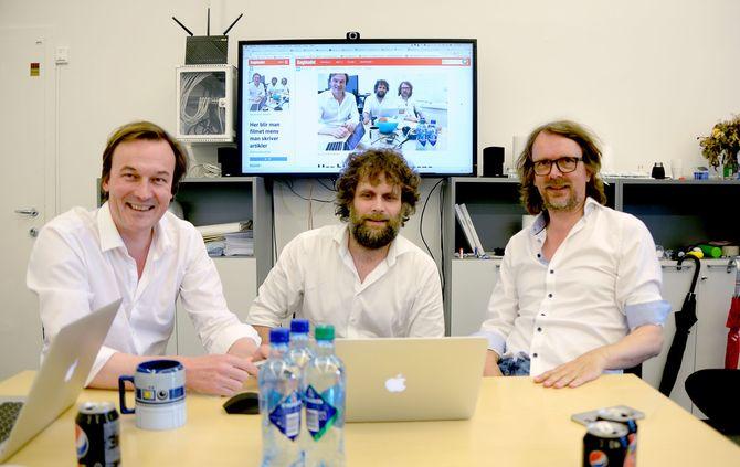 VIL SELGE LABRADOR: Jan Thoresen, Tor Kristian Flage og Jon Reidar Hammerfjeld.