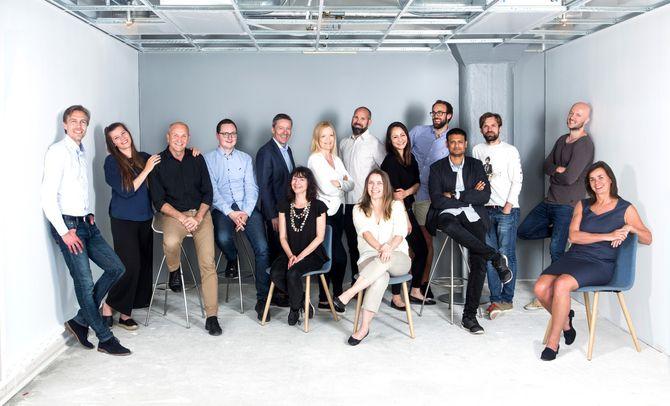 VOKSER: Disse jobber til daglig på Havnelageret i Oslo, for Cloud Media. I tillegg kjøper selskapet tjenester fra en rekke frilansere. (Foto: Cloud Media Service AS)