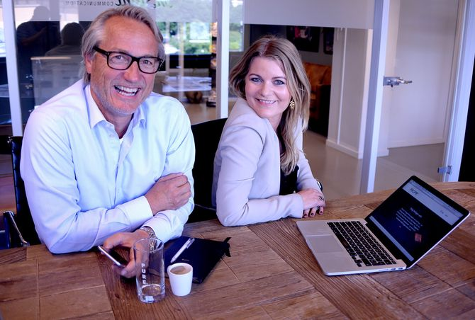 Geir Kjærnes er gründer og til daglig byråleder for In Sight. Til høyre Adina Broady Aasebø i datterselskapet In Sight LAB, som hjelper Propr med å fly digitalt. (Foto: Gard L. Michalsen)