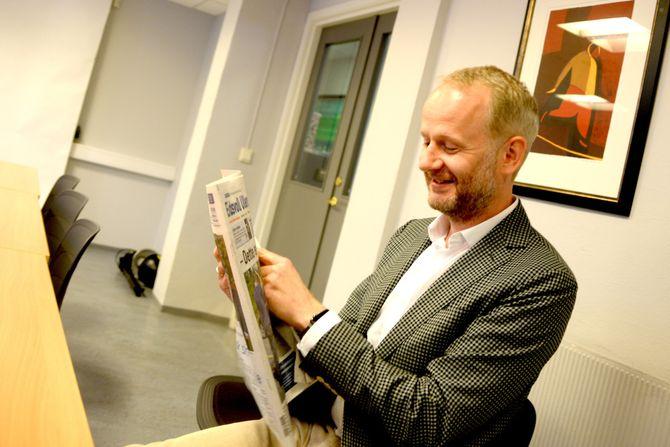 MINDRE PAPIR, MER INNHOLD: Det er strategien og prioriteringen fra Roger Aarli-Grøndalen for Eidsvoll Ullensaker Blad.