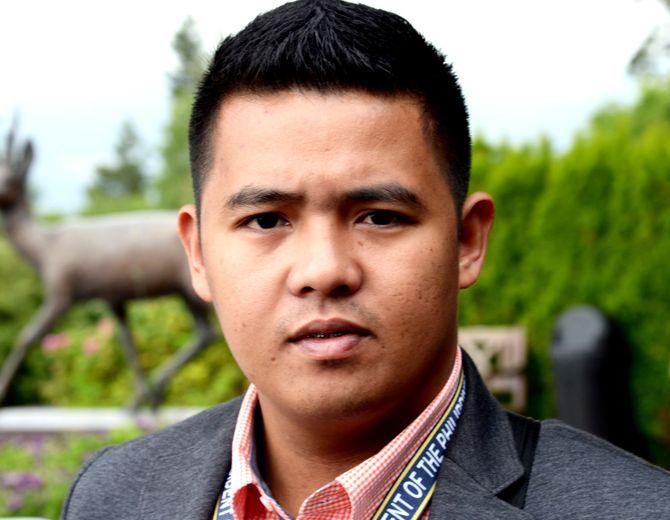 Romel Lopez jobber for TV5 i Manila og mener Filippinene har ytringsfrihet og at journalister kan skrive hva de vil. (Foto: Fredrik Drevon)