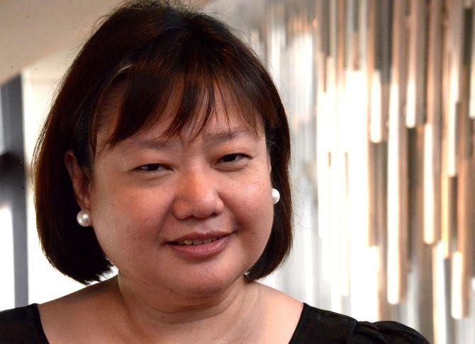 Kommunikasjonssjefen til Filippinenes president Rodrigo Duerte, Patricia Melizza Bello Ruivavar, sier hun ikke vet hvorfor Reportere uten grenser har rangert landet hennes på 138. plass på World Presse Freedom Index. (Foto: Fredrik Drevon)