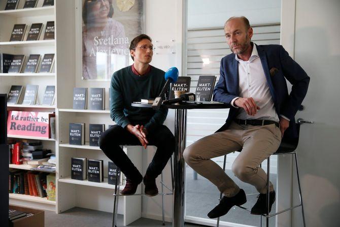 Åmås og Sterri under tirsdagens lansering.