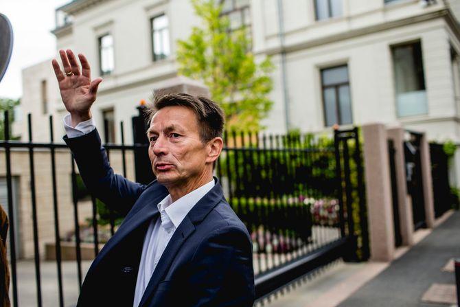 HANS KRISTIAN AMUNDSEN - eks-redaktør i Nordlys og nå Arbeiderpartiets «grå eminense». Her etter valget i 2013.(Foto: Stian Lysberg Solum / NTB scanpix)