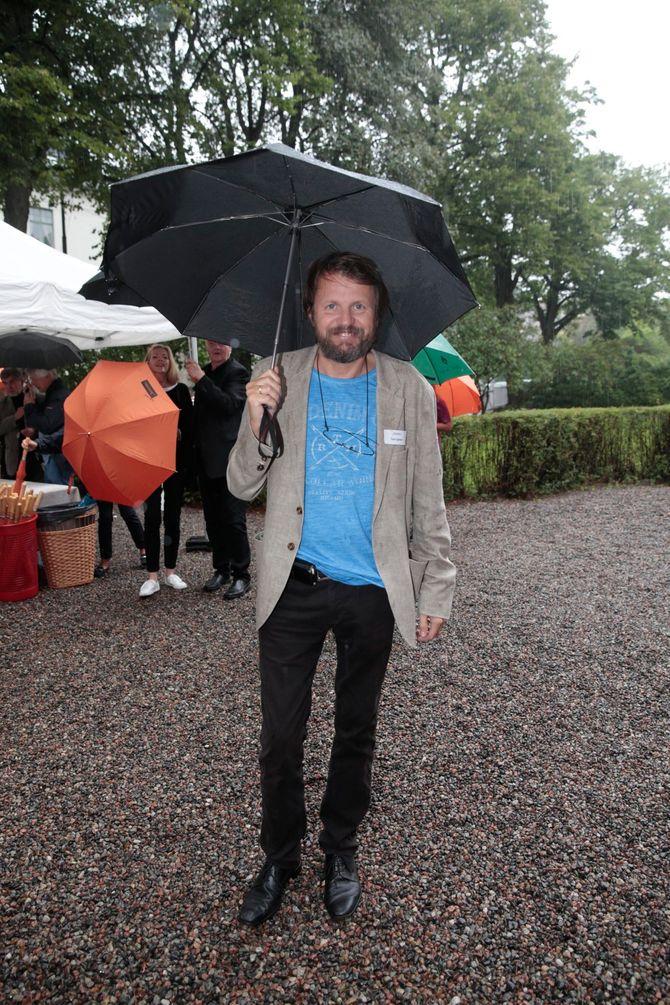 Tom Egeland - her på hagefesten til Aschehoug Forlag i Oslo i slutten av august 2015. (Foto: Lise Åserud / NTB scanpix)