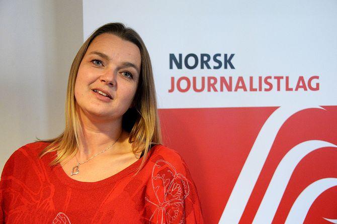 Hege Iren Frantzen Norsk Journalistlag. (Foto: Erik Waatland)
