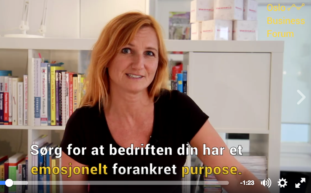 (Faksimile: Oslo Business Forums purpose-video).
