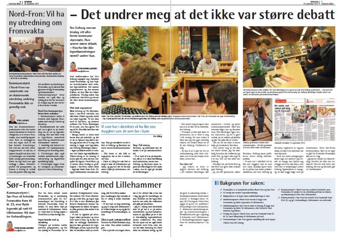 Oppslag i Dølen 26. september 2013.