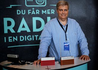 Juryleder Morten Scott Janssen i Prix Radio. Han er også daglig leder i Radiodager.