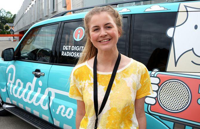 Ansvarlig redaktør Ingrid Haugen Nonskar i Studentradioen i Bergen. (Foto: Erik Waatland)