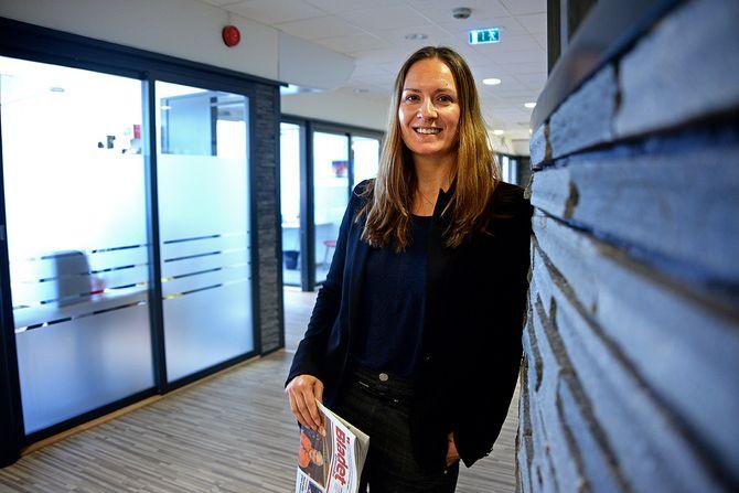 Redaktør Linn Kathrine Yttervik i Stjørdalens Blad og Malvik Blad. (Foto: Erik Waatland)