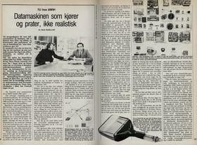 Teknisk Ukeblad intervjuet BMW om førerløse biler i 1984.