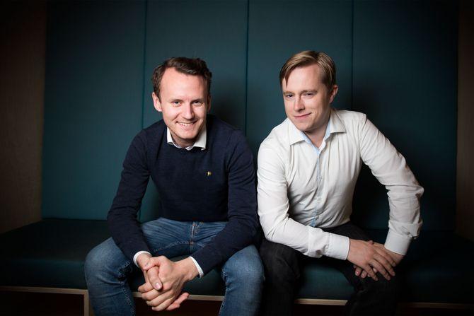 TU Story Labs utvidet sist høsten 2015. Her er alle fire,fra venstre: Thomas Marynowski, Øystein W. Høie, Jørgen Elton Nilsen ogPål Unanue-Zahl. Høie er nå blitt direktør forretningsutvikling i TU Media.