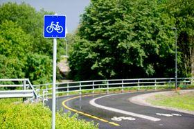 Oslo forbedrer nå sykkelveinettet. Her fra en sykkelvei på Gaustad i Oslo.