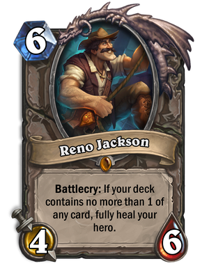 Reno Jackson er ansvarlig for mange unike og spennende kortstokker i Hearthstone.