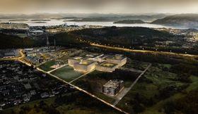Slik skal det nye Stavanger-sykehuset på Ullandhaug se ut.