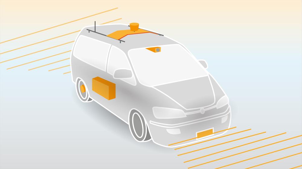 Førerløse biler består av et sett med sensorer, en datamaskin med nødvendig programvare, og mulighet til å ta styring på gass, brems og styring.