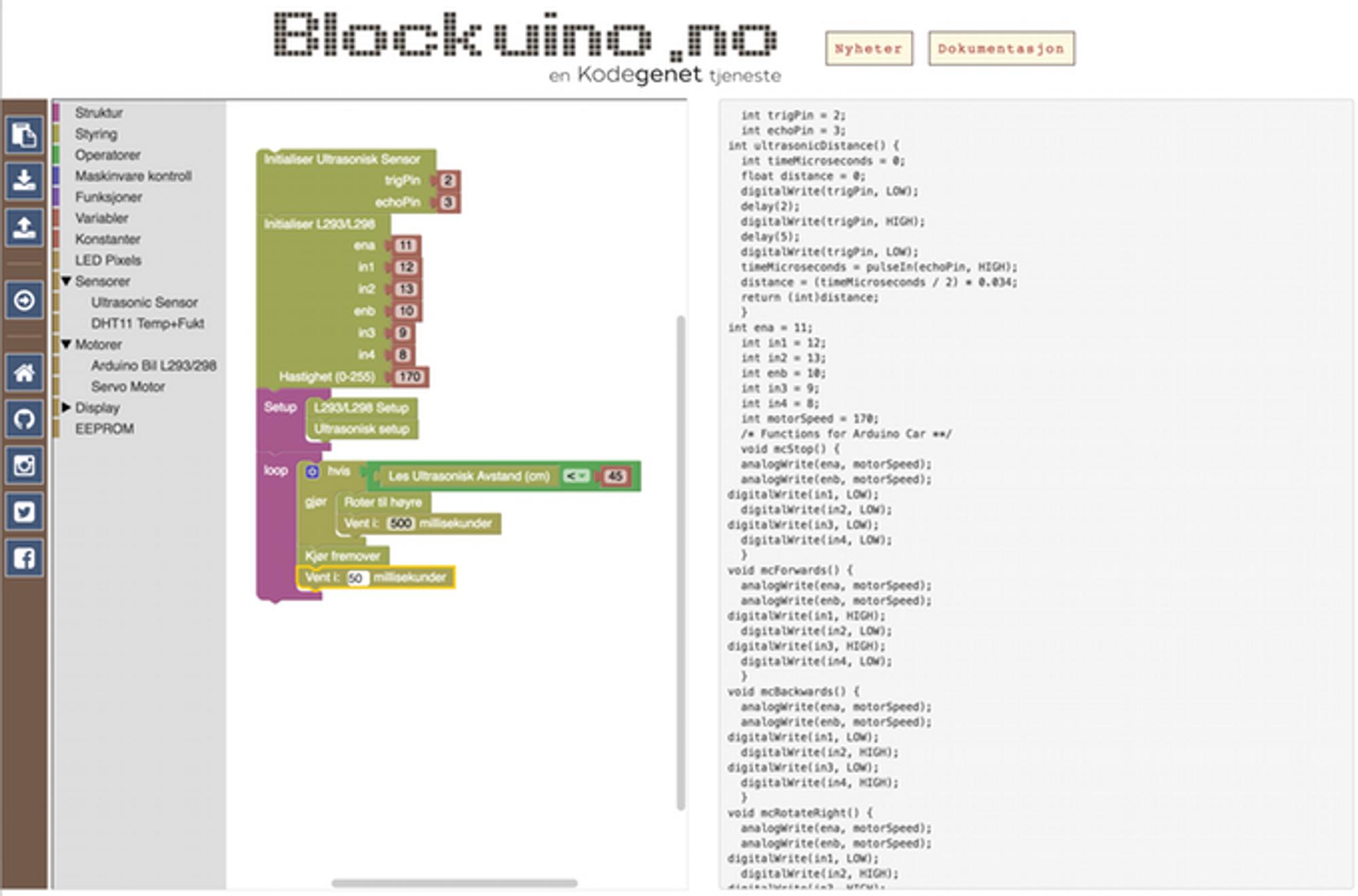 Blockuino gjør arduinoprogrammeringen enkelt for nybegynnere, mener Teknolab som har basert hele prosjektet på åpen kildekode.
