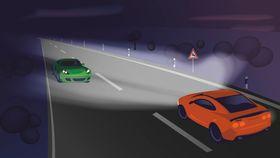 Teknologien skal gjøre det mulig å lyse opp hele veien, inkludert motgående kjøretøy uten at føreren av dette blir blendet.