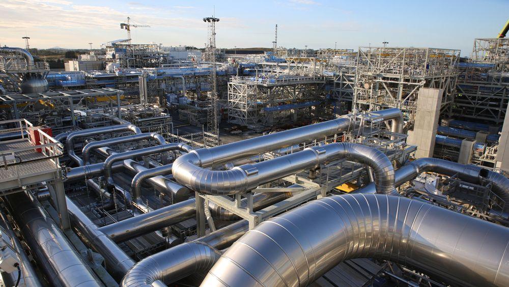 Det var stor byggeaktivitet på gassprosesseringsanlegget på Nyhamna (bildet) i fjor høst.