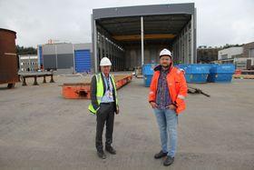 Nå ferdigstilles en ny gigantisk verkstedhall.