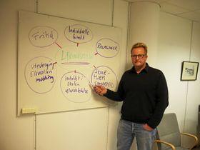 LEDER A-TEAMET: Arne Fredrik Rygh er prosjektleder for Ambulerende team i Oppegård kommune. Foto: Yana Stubberudlien.