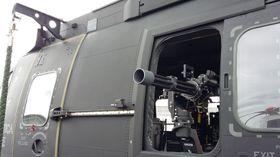 De italienske helikoptrene risikerer å måtte lande i situasjoner der det er behov for tre slike miniguns.
