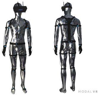 En «full-body tracking suit» er ekstrautstyr, og ikke nødvendig – men vil ifølge Modal VR gi bedre presisjon og mulighet til å registrere for eksempel håndbevegelser.
