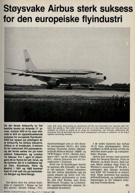 En oppsiktsvekkende suksess for europeisk flyindustri! skrev TU i februar 1980.